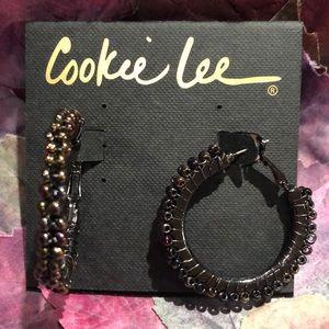 IRIDESCENT HOOP EARRINGS by COOKIE LEE